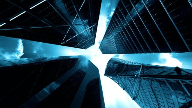 Corporate buildings, looping, Alpha Channel video
