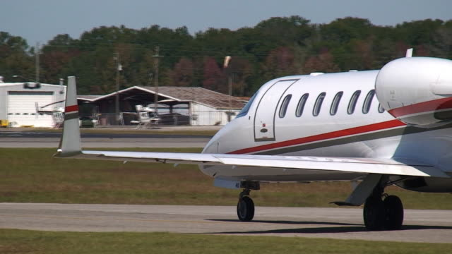 Corporate Jet Taxiing video