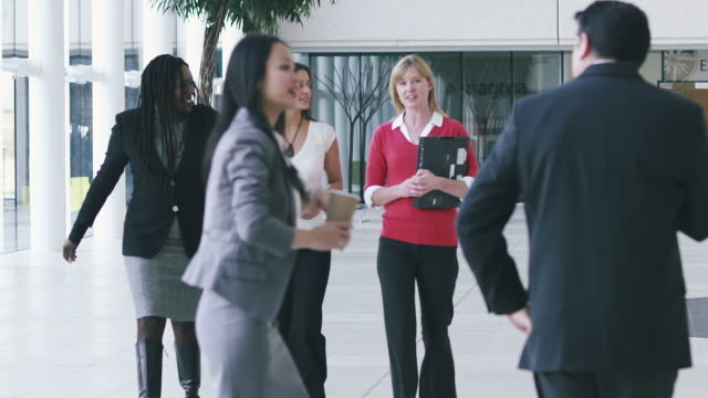 Corporate office business people video