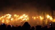 Correfoc - Spain traditional party in mediterranean area video