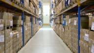 Corridor in distributional industrial centre video