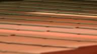 Corrugated board on a belt conveyor video
