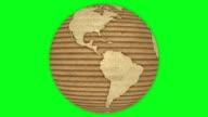 Corrugated Cardboard Earth video