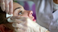Cosmetic facial treatments video