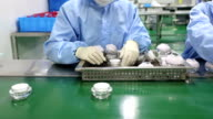 cosmetics package production assembly line video