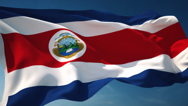 4K Costa Rica Flag - Loopable video