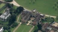 Coughton Court  - Aerial View - England, Warwickshire, Stratford-on-Avon District, United Kingdom video