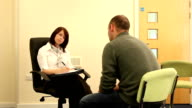 Counsellor / Psychiatrist Therapy session with man video