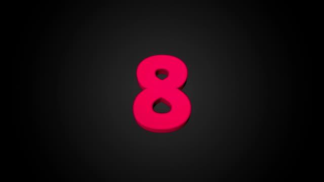 Countdown animation video