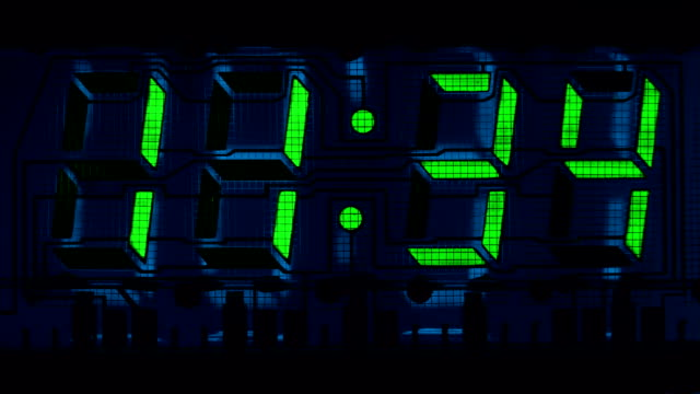 Countdown clock green led video