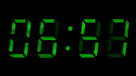 Countdown clock green led video