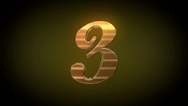 Countdown  Colorful 3D numbers countdown 1-3 video