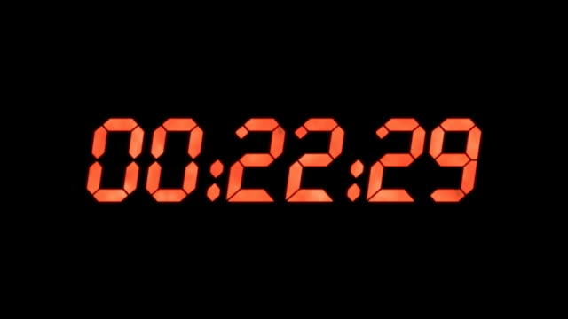 Countdown digital watch video