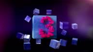 TOP TEN. Countdown GO! Beautiful modern countdown 1-10. With cubes. video
