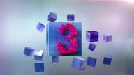 TOP TEN. Countdown GO! Beautiful modern countdown 1-10. With cubes. video