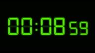 LED Countdown Green HD video