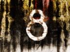 NTSC: Countdown on grunge background video