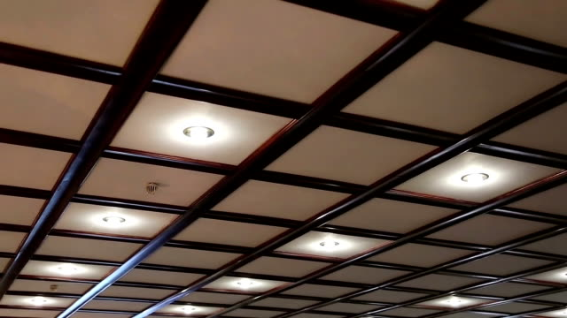 Counter ceiling with lamps video