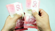 Counting Canadian Dollars video
