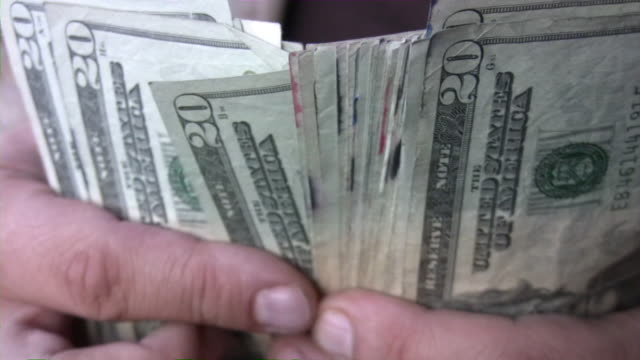 Counting cash money. Dollars in hands. Currency, finance. video