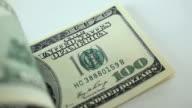 Counting hundred dollar bills video