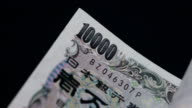 Counting Japanese Yen -  Slow Motion video