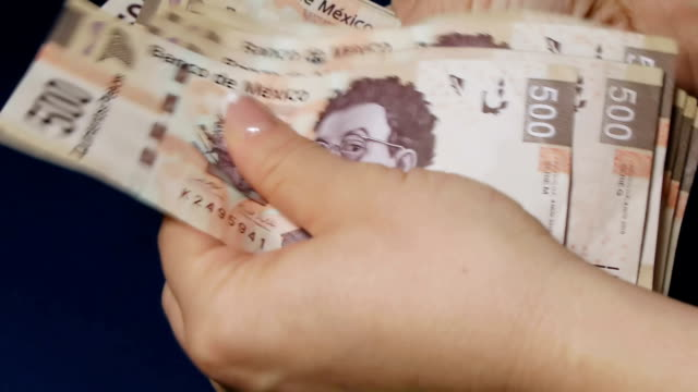 Counting Mexican High Denomination Money video