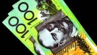 Counting money - Australian Dollar video