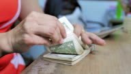 Counting money Dollars Cash banknote video