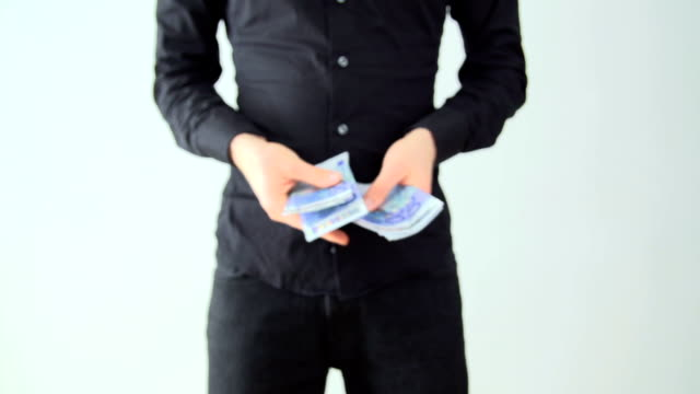 Counting money - Euros video