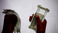 Counting money note video
