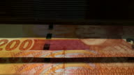 Counting Rand Banknotes Flipping video