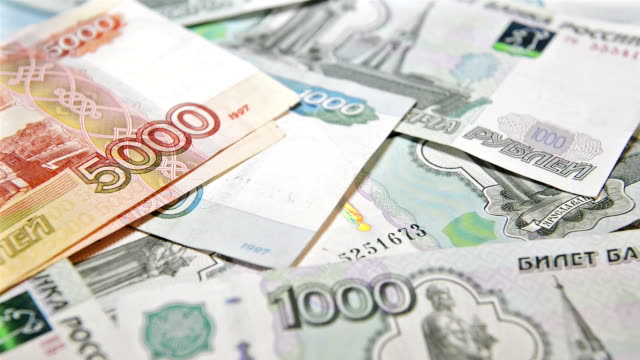 counting Russian currency video