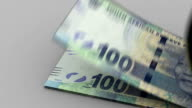 Counting South African Rands video