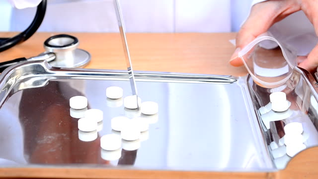 Counting tablets medicine video