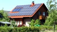Country home with solar energy video