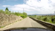 Country road among olive trees, Tuscany video