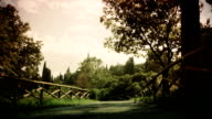 Country road beautiful scenery antique video