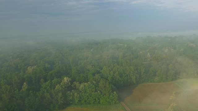 AERIAL Countryside along the river video