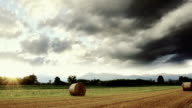 countryside, hay bales video