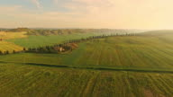 AERIAL Countryside house in Tuscany video