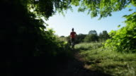Countryside jogging video