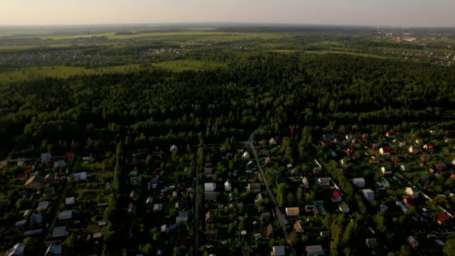 Countryside landscape in Russia, aerial view video