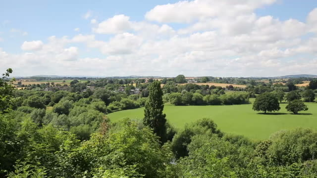 Countryside scene Ross-on-Wye Herefordshire England uk video