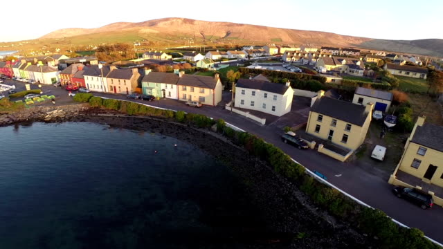 County Kerry Ireland aerial view video