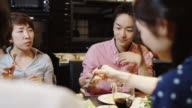 Couple Among Friends at Dinner Party video