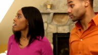 Couple Argues in Home - CU ver b video