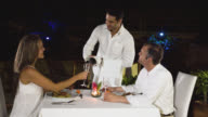 Couple at a romantic dinner video