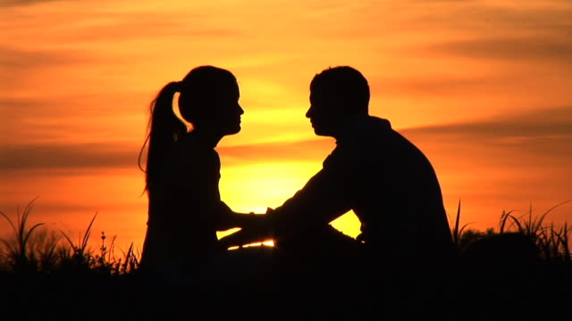 HD: Couple At Sunset video