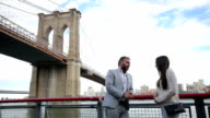Couple at the Brooklyn Bridge video